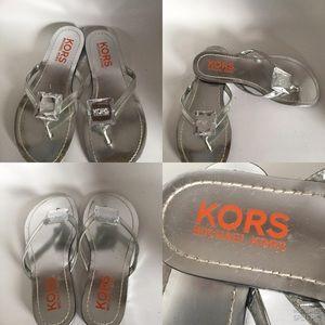 MK Metallic Colour ,Michael Kors  Logo Sandals